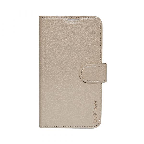 Fashion - Samsung S5 - vegansk læder - 91% beskyttelse - lys brun