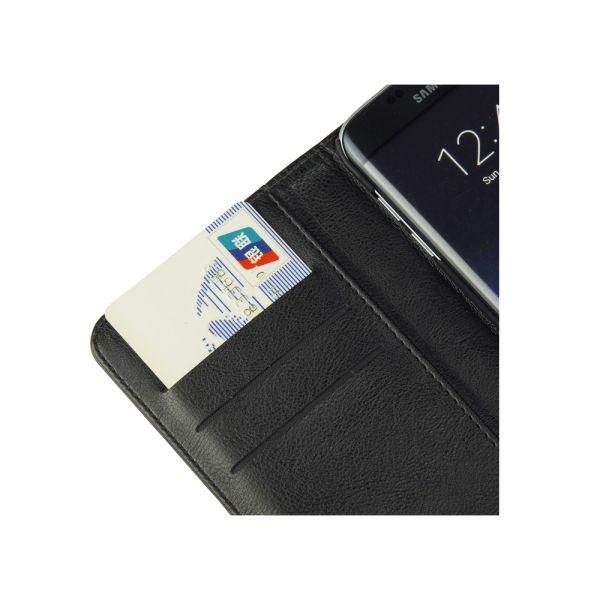 Fashion - Samsung S7 Edge - vegansk læder - 86% beskyttelse - sort