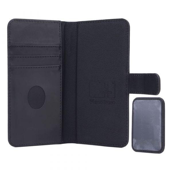 Exclusive 2-i-1 - universal - ægte læder - 86% beskyttelse - sort