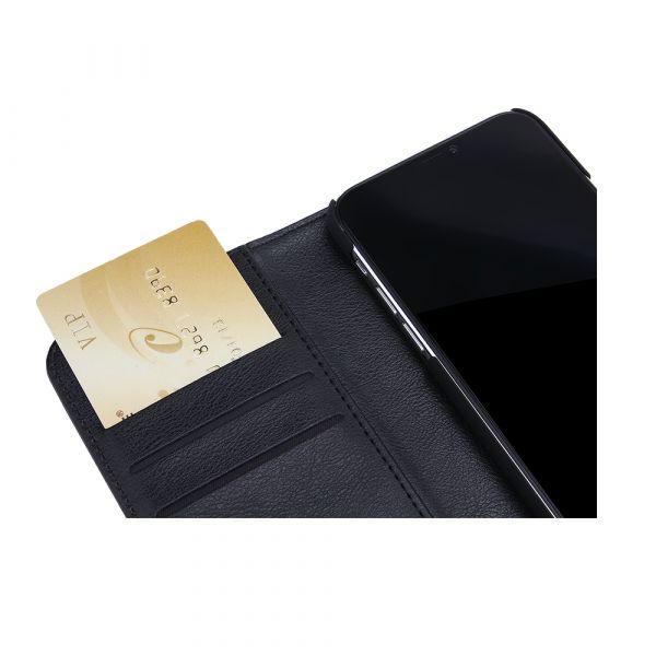 Fashion - iPhone 11 PRO - vegansk læder - 86% beskyttelse - sort
