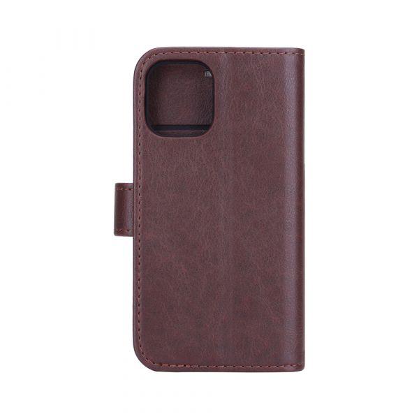 Fashion - iPhone 12 MINI - vegansk læder - 86% beskyttelse - brun