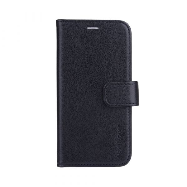 Fashion - iPhone 13 MINI - vegansk læder - 86% beskyttelse - sort