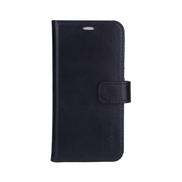 Exclusive 2-i-1 - iPhone 13 - ægte læder - 86% beskyttelse - sort