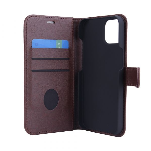 Fashion - iPhone 13 - vegansk læder - 86% beskyttelse - brun