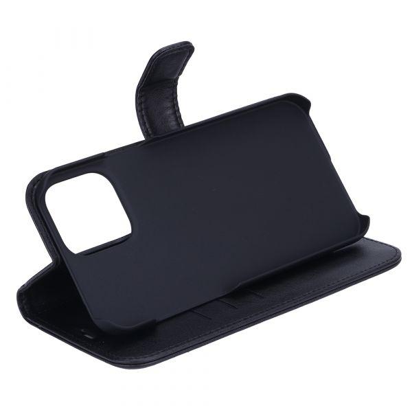 Fashion - iPhone 13 PRO MAX - vegansk læder - 86% beskyttelse - sort