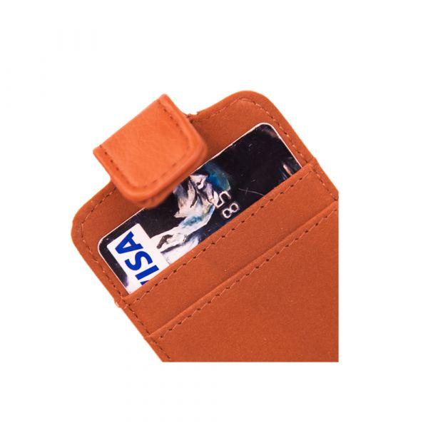 Fashion - iPhone 4/4S - vegansk læder - 91% beskyttelse - cognac brun