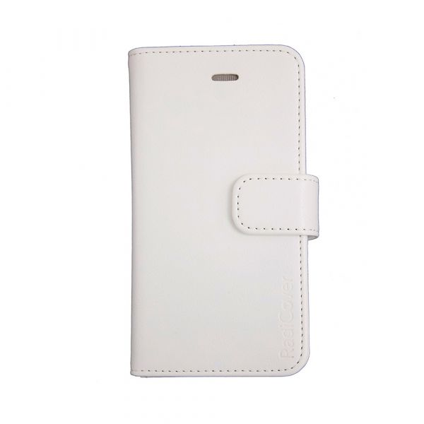 Fashion - iPhone 5/5S/SE - vegansk læder - 86% beskyttelse - hvid