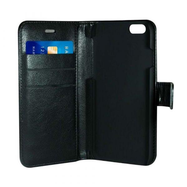 Fashion - iPhone 6/7/8/SE2020 - vegansk læder - 86% beskyttelse - sort