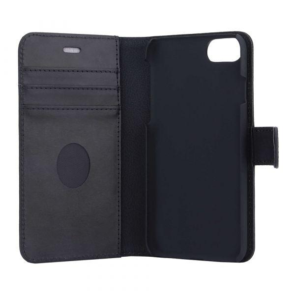 Exclusive 2-i-1 - iPhone 6/7/8/SE2020 - ægte læder - 86% beskyttelse - sort