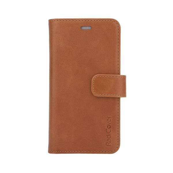 Exclusive 2-i-1 - iPhone 6/7/8/SE2020 - ægte læder - 86% beskyttelse - brun