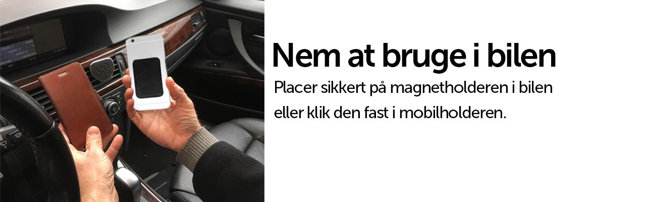 Smart ophæng i bilen - nem at bruge - magnetbrik - smartcover til androids